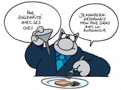 Le-Chat-aime-le-foie-gras-mais-est-contre-le-gavage-des-oies